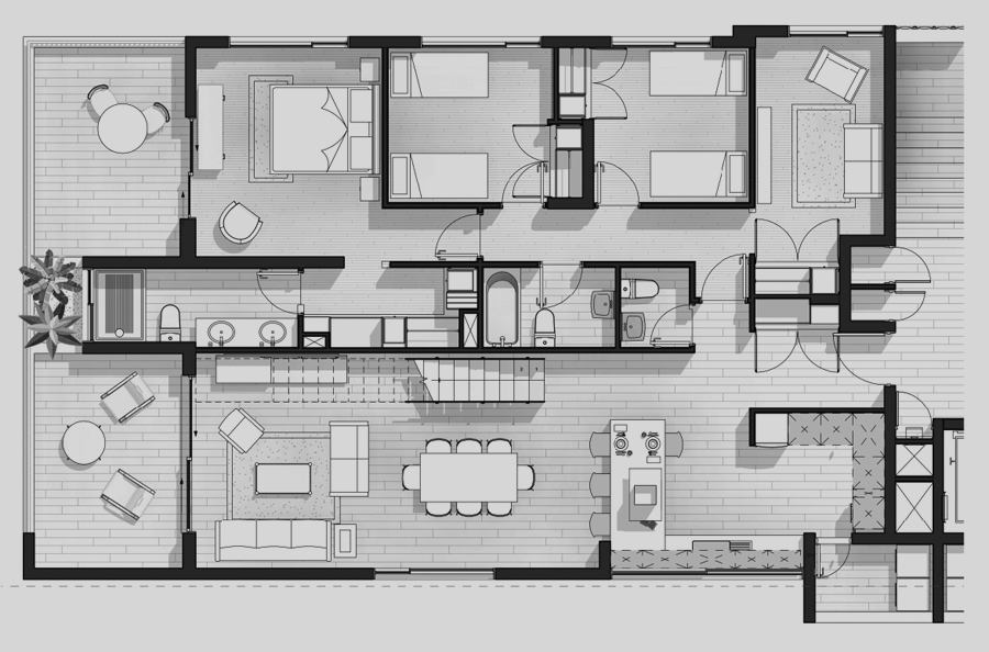 Penthouse tipo 501