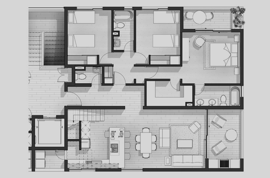 Penthouse tipo 502